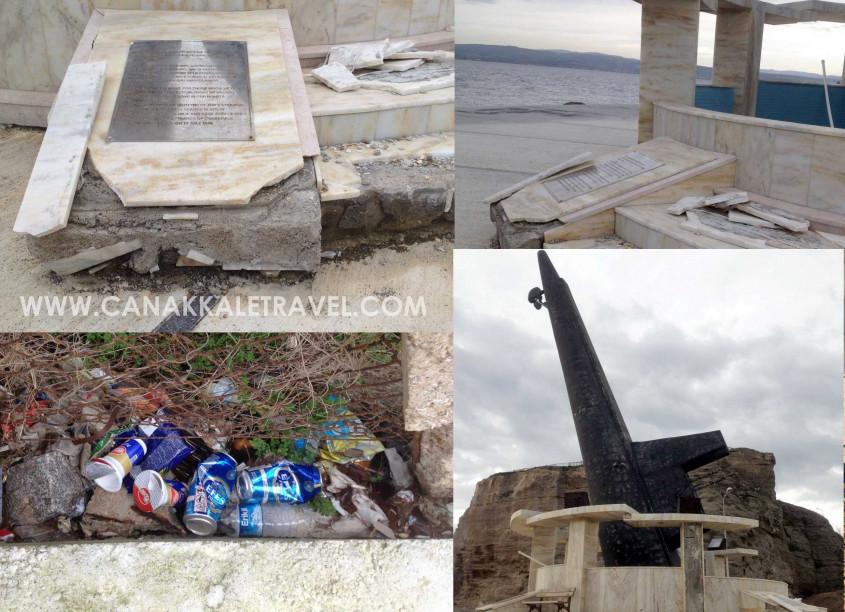Gelibolu'da Deniz Şehitlerimize Yakışmayan Manzara!