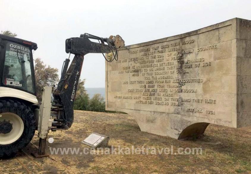 Gelibolu Yarımadası'ndaki Kitabeler ile Yazıtlar Onarılıyor