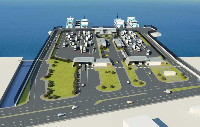 Gelibolu Yeni Feribot Terminali'nde Deniz Taş Dolgusuna Başlanıyor