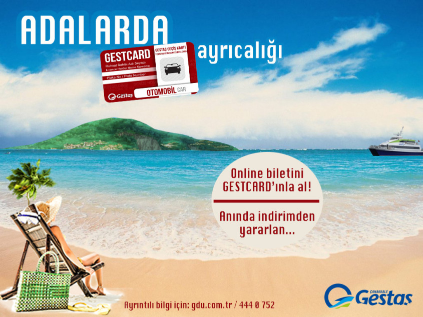 Gökçeada ve Bozcaada Hattında Online Bilette GESTCARD Ayrıcalığı