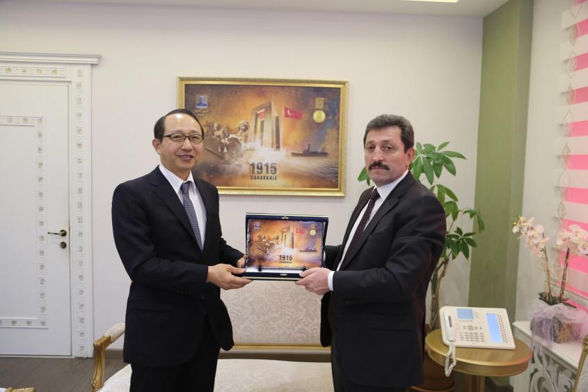 Japonya İstanbul Başkonsolosu Hisao Nishimaki'den Valiliğe Ziyaret