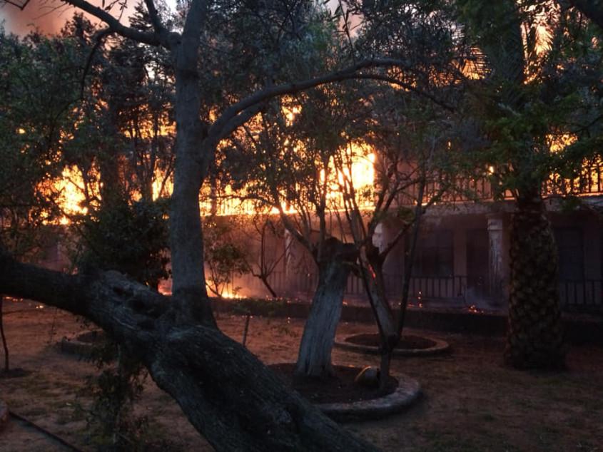 Assos'ta Turistik Otelde Yangın