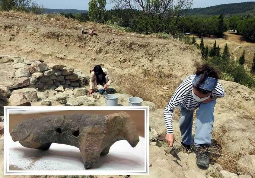 Maydos Kilisetepe Höyüğü'nde 3 Bin Yıllık Koç Figürü Bulundu