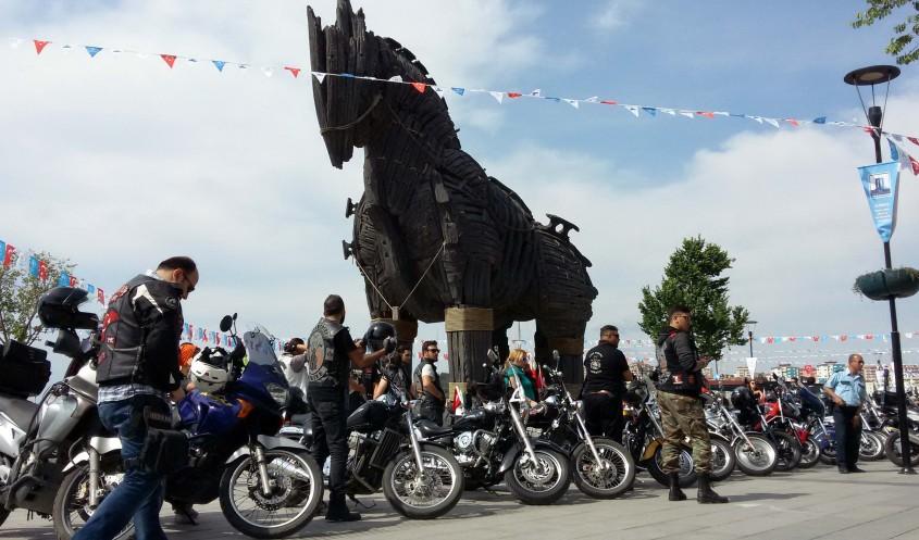 101 Motosikletli 101 Gazi İle Çanakkale'de Buluştu