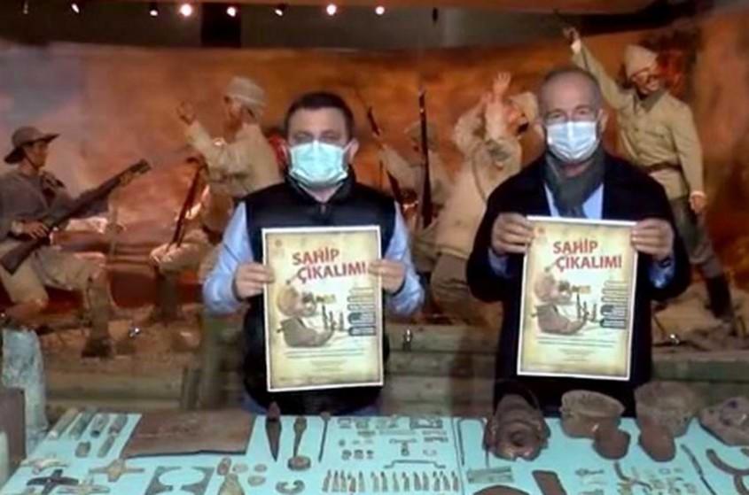 Pulluğa Takılan Savaş Malzemelerini Müzeye Bağışladı