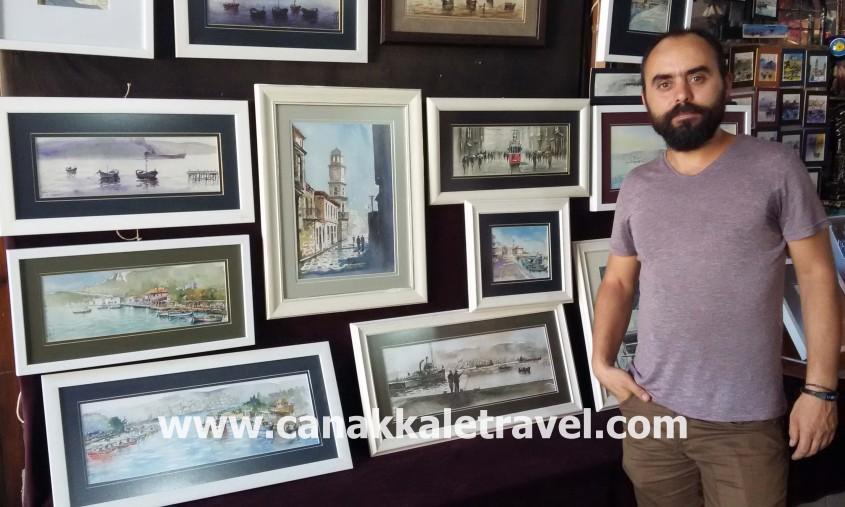 Çanakkale Aynalı Çarşı'da Bir Ressam
