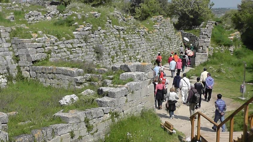 Troia Antik Kenti Ziyaretçi Sayısında Büyük Düşüş