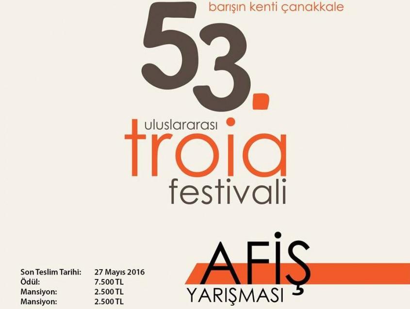 53. Uluslararası Troia Festivali Afiş Yarışması Başvuruları Başladı
