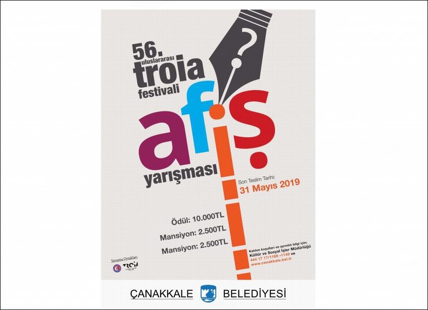 56. Uluslararası Troia Festivali Afiş Yarışması Sona Eriyor