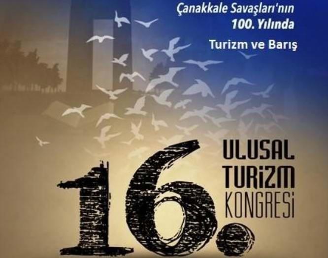 16. Ulusal Turizm Kongresi Çanakkale'de Yapılacak