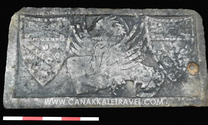 """Venediklilere Ait Tarihi """"Aziz Markos Aslanı Arması"""" Troya Müzesi'nde Sergilenecek"""
