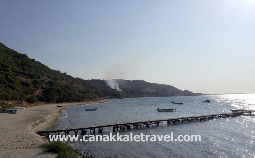 Çanakkale'de Metruk Binadaki Yangın Ormanı Kül Ediyordu