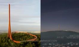 Karasal-Sayısal Radyo TV Verici Kulesi'nin Yüzde 30'u Bitti