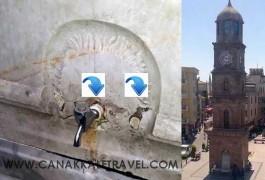 Çanakkale'de Tarihi Saat Kulesine Yakışmayan Çeşme!