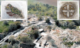 Troya Antik Kenti'nde Helenistik ve Roma Dönemine Ait Mozaikler Bulundu